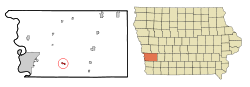 Treynor, Iowa, a Pottawattamie County town of 950, was honored for its clean water. Credit: Wikimedia Commons