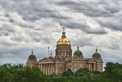 The Iowa State House. Photo by  w4nd3rl0st, Flickr.