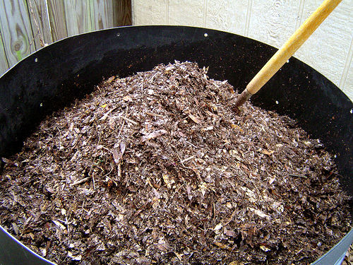 Compost pile. Photo by bunchofpants, Flickr.