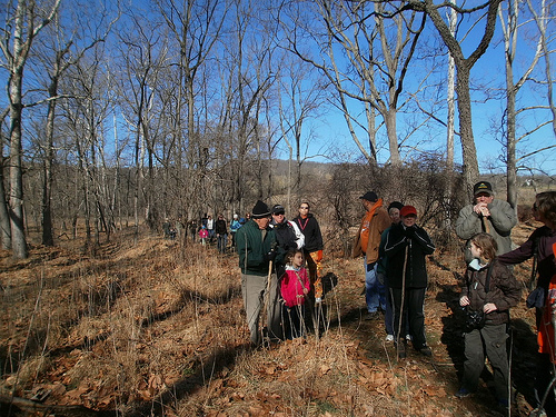 First Day Hikes' participants. Photo by vastateparksstaff, Flickr.