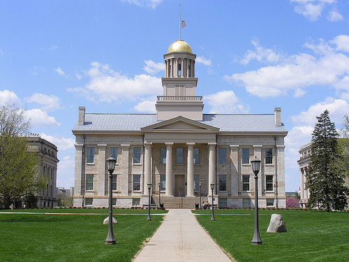 University of Iowa's Old Capitol building. Photo by Sean_Marshall, Flickr.