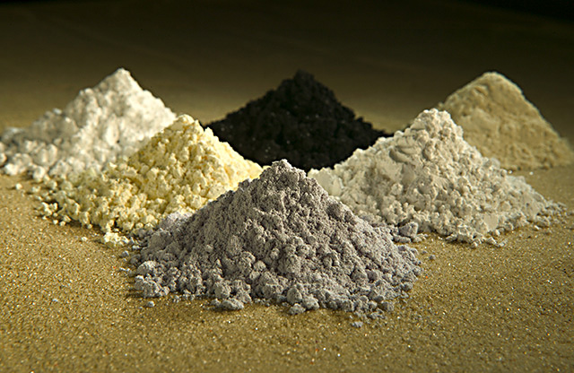 Powders of rare earth oxides, Peggy Greb, US Department of Agriculture.