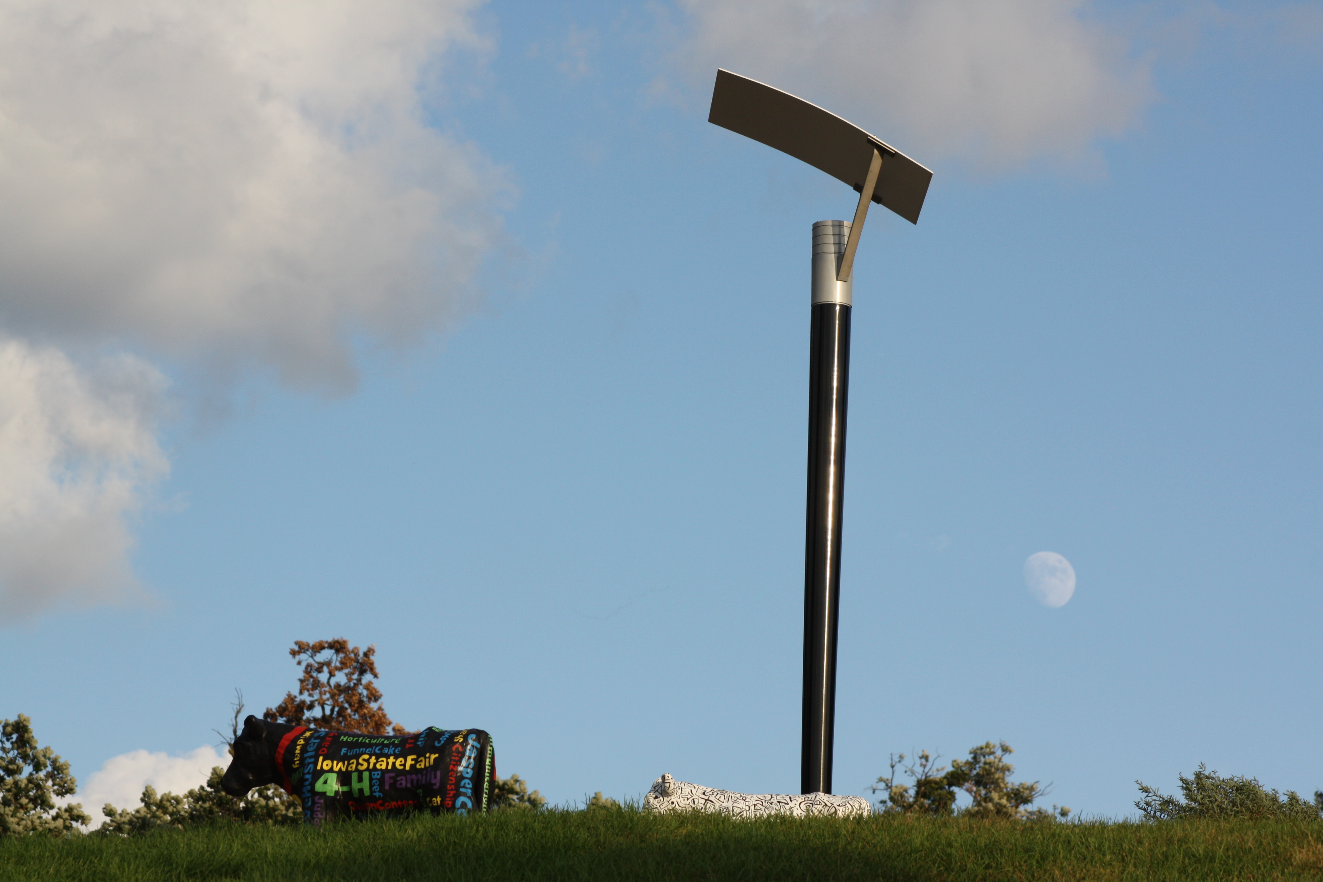 Solar energy panels at the Iowa State Fair;  Photo by vanhookc, Flickr.