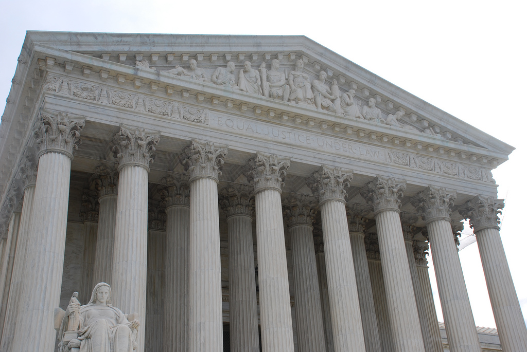 The United States Supreme Court building in Washington D.C. Photo by Mike Renlund; Flickr