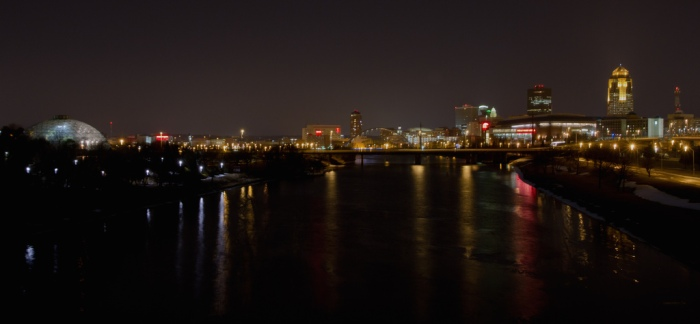 The Des Moines River in Des Moines. Photo by Jason Mrachina; Flickr