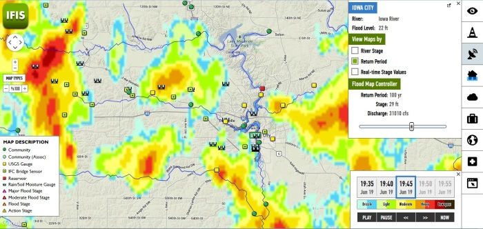 An image of the Iowa Flood Information System