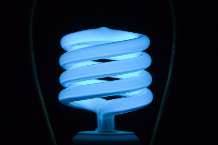 Compact fluorescent lamps are known for using energy more efficiently than traditional bulbs. (Adam/Flickr)