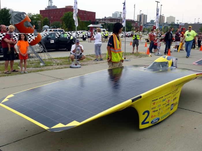 The University of Michigan took first place at the 2014 American Solar Challenge which ended Tuesday. Photo by Ali Eminov; Flickr