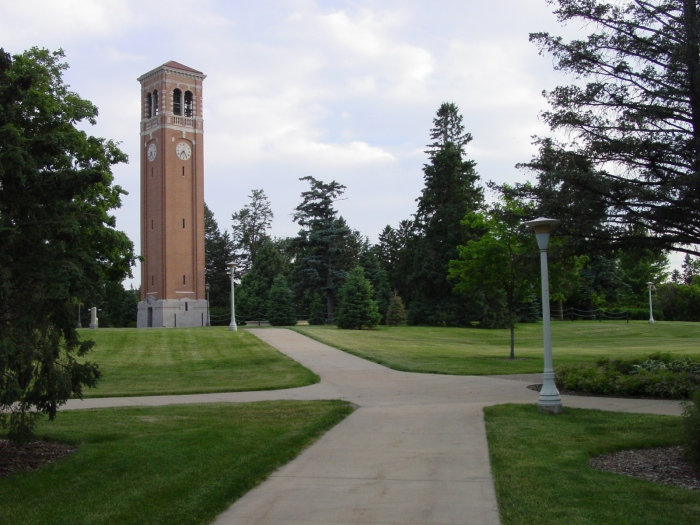 The Campanile is a major landmark on the University of Northern Iowa campus. (Wikimedia)