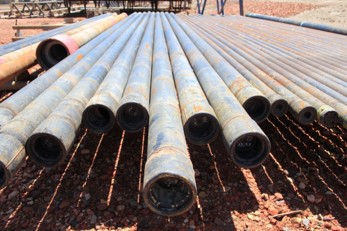 Pipes to form a pipeline in Williston, North Dakota (Lindsey G / Flickr)