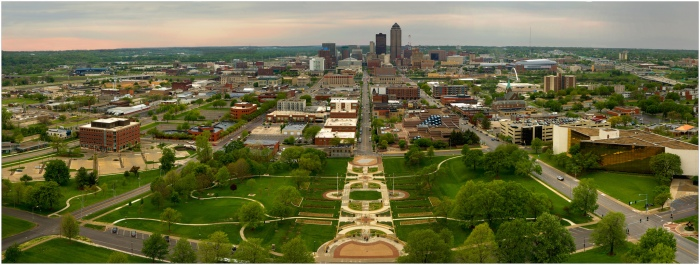 Des Moines is the most populous city in Iowa with 203,433 residents according to the 2010 Census (Jason Mrachina/Flickr)