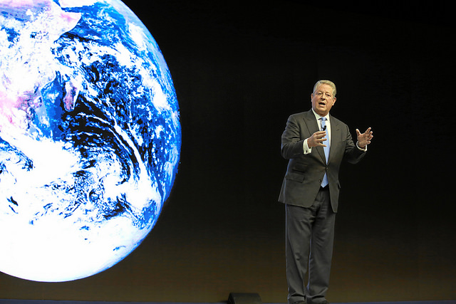Former Vice President Al Gore speaks at the World Economic Forum on January 21, 2015 (World Economic Forum / Flickr)