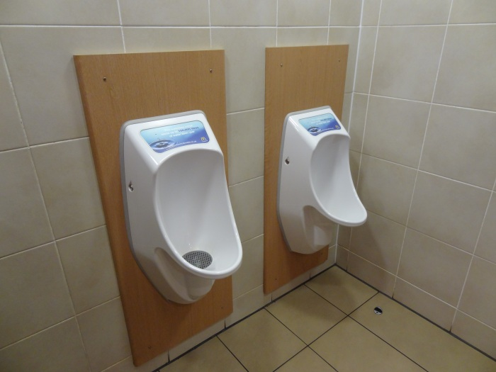 No-flush urinals - such as these at a McDonalds in England - are just one of the environmentally-sustainable technologies discussed in the report. (Wikimedia)