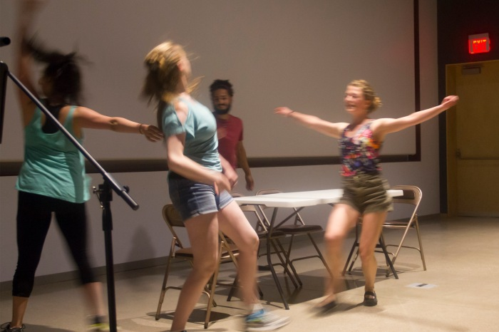 Sophia Finster produced a dance project in which the characters debated over processed versus unprocessed foods. (Photo by Bethany Nelson)