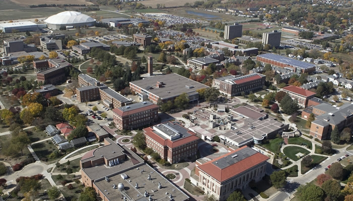 An aerial shot of the University of Northern Iowa. (University of Northern Iowa)