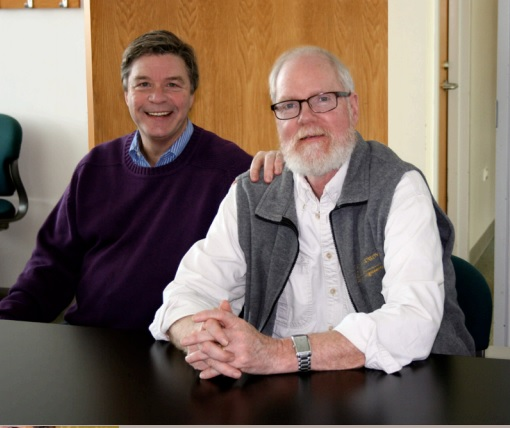 CGRER co-directors Jerry Schnoor (left) and Greg Carmichael. (CGRER)