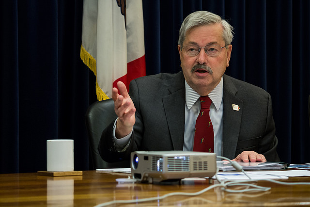 Iowa governor Terry Branstad during a state budget hearing in Des Moines on December 15, 2015 (John Pemble/Flickr)