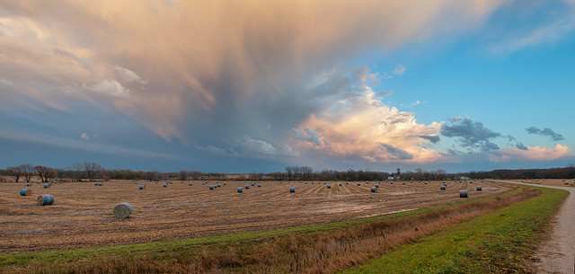 Storm clouds over Iowa during a November system that brought tornado warnings. (Carl Wycoff / Creative Commons)