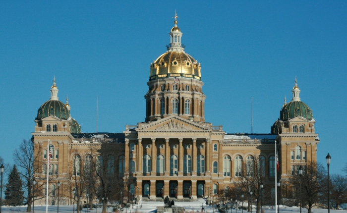 The Iowa state capitol in Des Moines. (Ashton B Crew/Wikimedia Commons)
