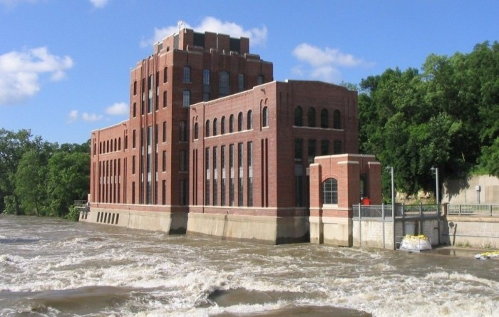 The Iowa Flood Center is based in the ?? which sits on the banks of the Iowa River in Iowa City. (University of Iowa)