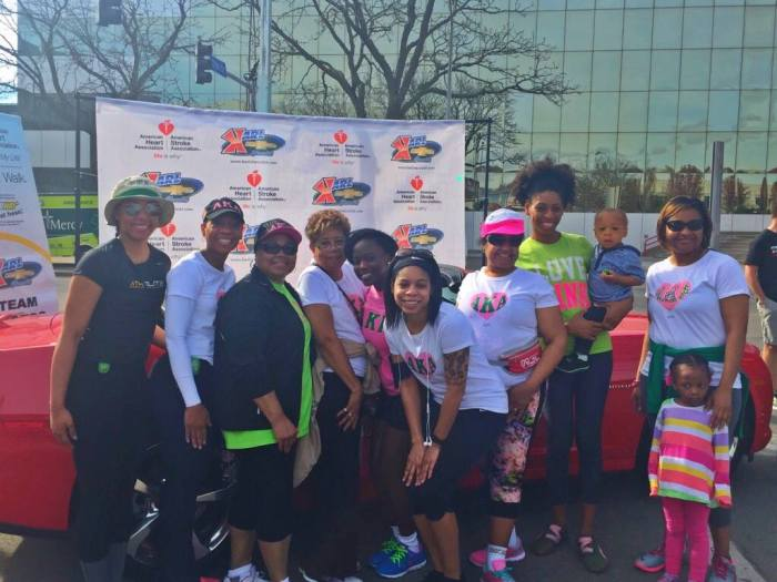 Members of the Iota Zeta Omega chapter of Alpha Kappa Alpha participated in the Central Iowa Heart Walk on April 16, 2016. (Alpha Kappa Alpha-Iota Zeta Omega/Facebook)