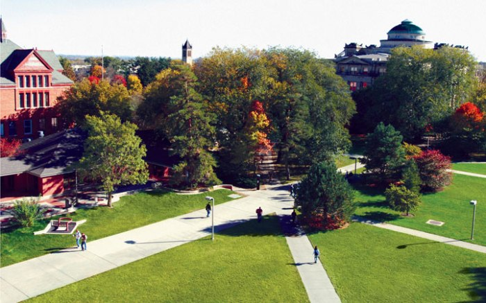 An aeiral shot of the Iowa State University campus in Ames. (Iowa State University)