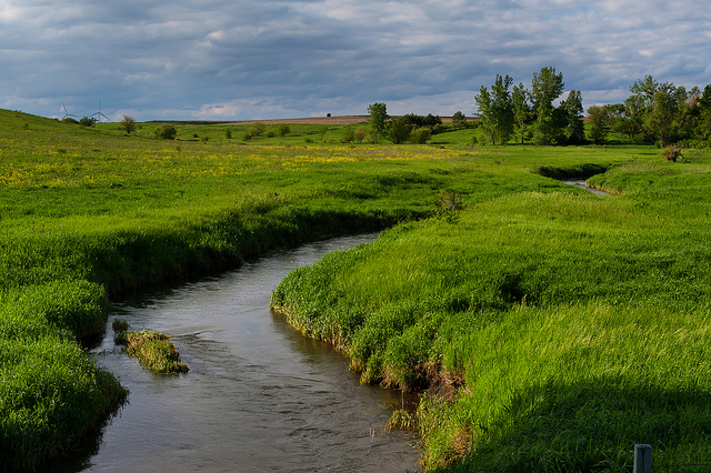 A creek that runs through Story County, Iowa. (Carl Wycoff/Flickr)
