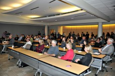 Yesterday's event at the University Capitol Centre was standing room only. (Jenna Ladd/CGRER)