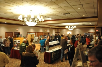 Nearly 300 people attended the event on Thursday night at the Clarion Highlander hotel in Iowa City. (Jenna Ladd/CGRER)
