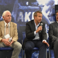 One of the afternoon's panel sessions featuring Dr. John Nuckhols, Dr. David Cweirtney and Ed Moreno (left to right).