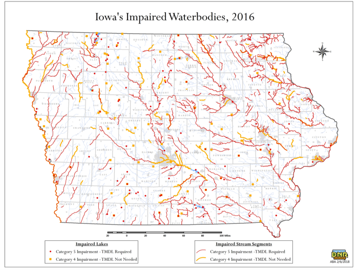 Impaired Waters Map