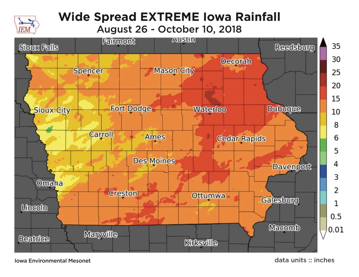 Extreme rain causes record-setting delay for Iowa soybean harvest